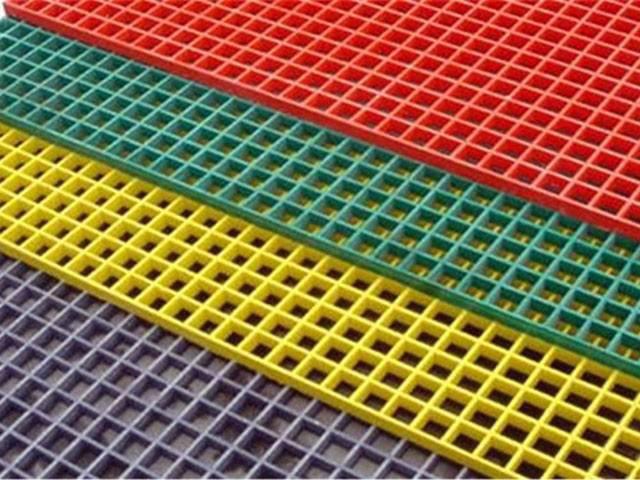 洗车房玻璃钢格栅 各种型号颜色船用地板走廊格栅