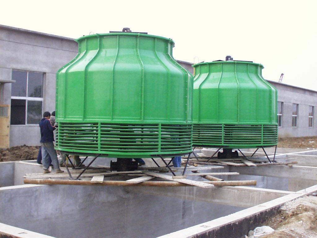 厂家直销 圆形冷却塔 玻璃钢冷却水塔 逆流 冷却 质量保障