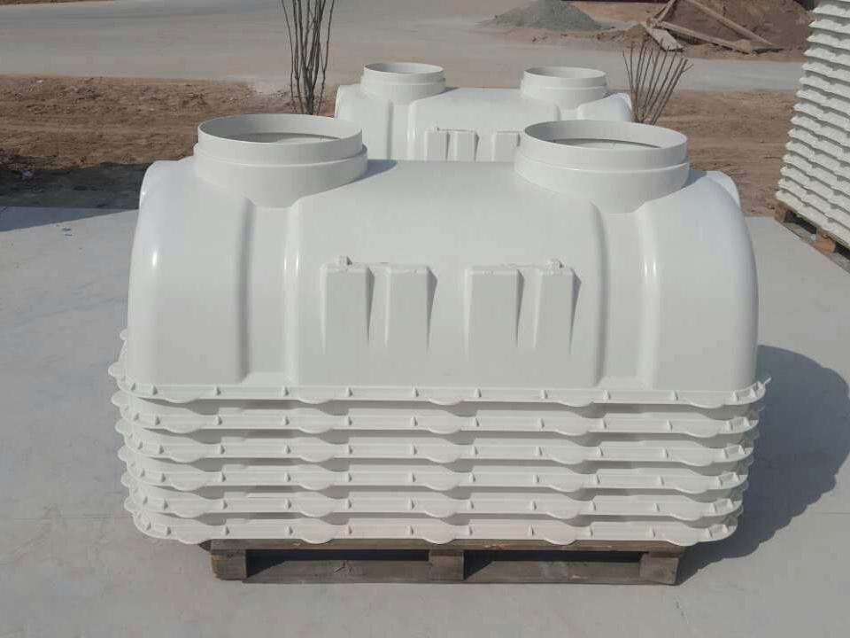 河北智凯供应三格式化粪池 旱厕改造玻璃钢化粪池厂家