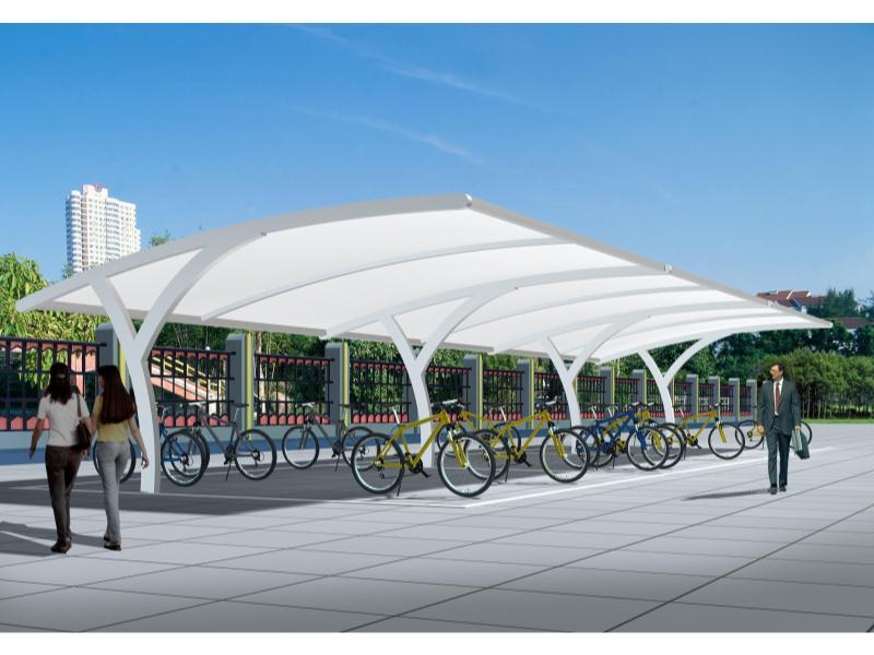 泉州自行车停车棚厂家 批发自行车停车棚