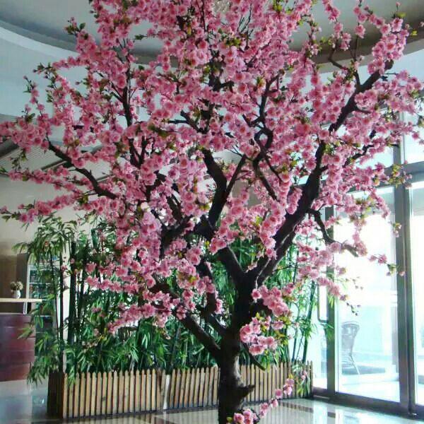 優良的仿真桃花樹東莞哪裏有-廣東假桃花樹廠家