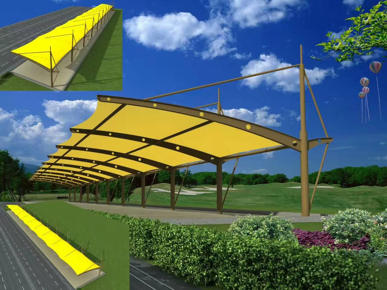 武汉车棚|膜结构车棚|玻璃雨棚|收费站车棚