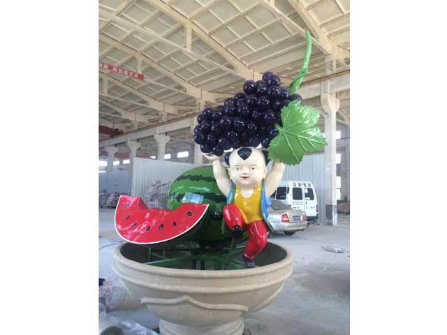 水果雕塑设计_做工精湛的蔬菜水果雕塑供应