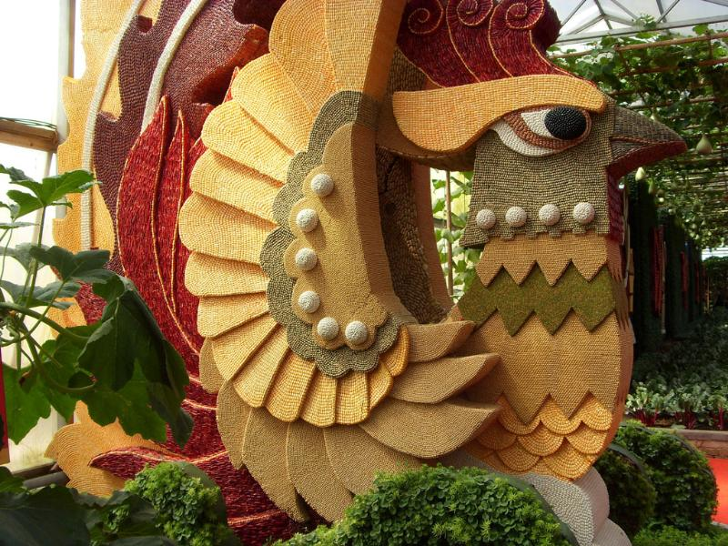 蔬菜种子雕塑定做【跟着节奏摇~摇~摇】寿光蔬菜种子雕塑