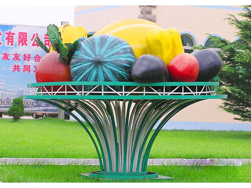 水果蔬菜雕塑_想做蔬菜雕塑就到叁圣景观