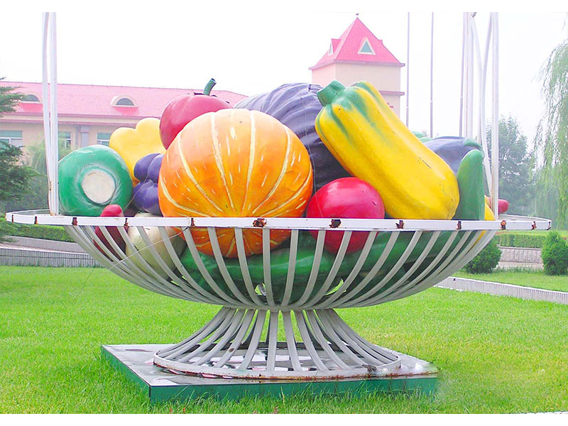 水果雕塑@叁圣景观——山东水果雕塑供应//水果雕塑建设