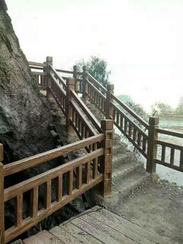 广受好评的栏杆工厂-永春水泥仿木栏杆  质优价廉