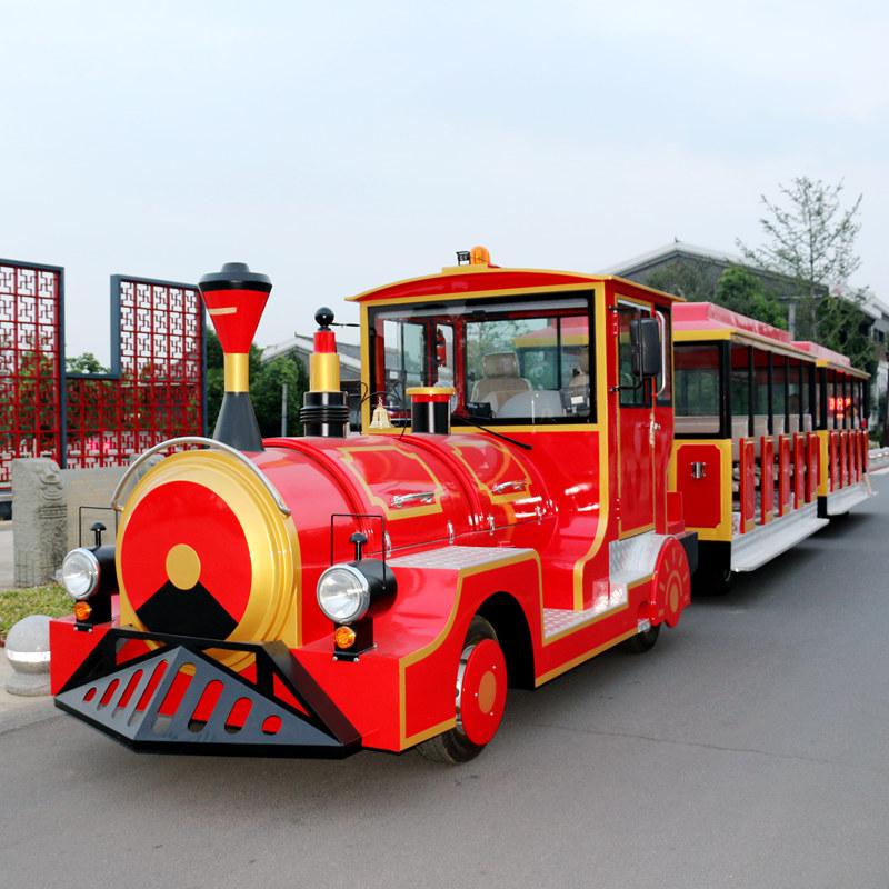 武汉蒂森40座一拖二电动观光小火车