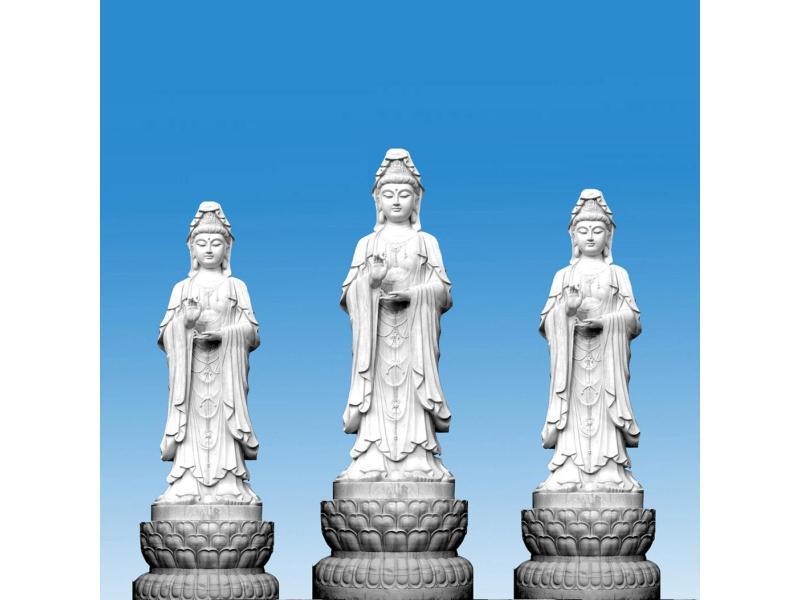 观音石雕厂家-的观音石雕正东雕刻优惠供应