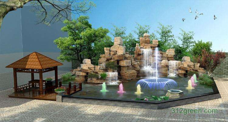 山管人丁水管財_洛江假山噴泉廠家_瑞奇建筑裝飾