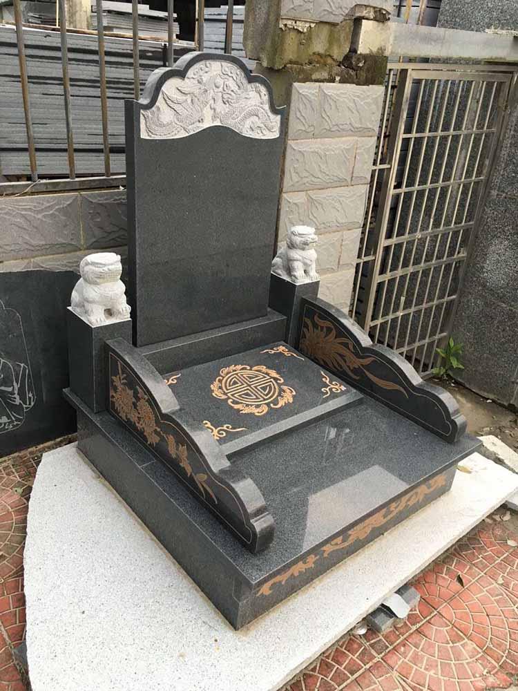 芝麻黑墓碑大小頭