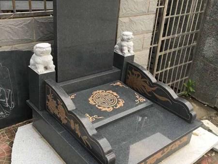 芝麻黑墓碑大小头