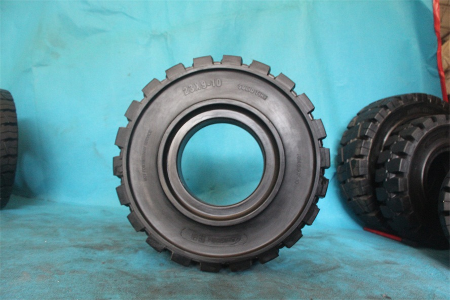 清远市朗琴三段式实心轮胎23x9-10安全可靠