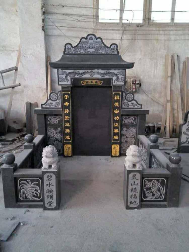 芝麻黑雕刻墓碑石