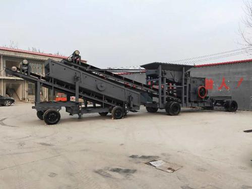 河北金瑞通机械厂生产的大型移动式破碎机加分筛分料价格多少?