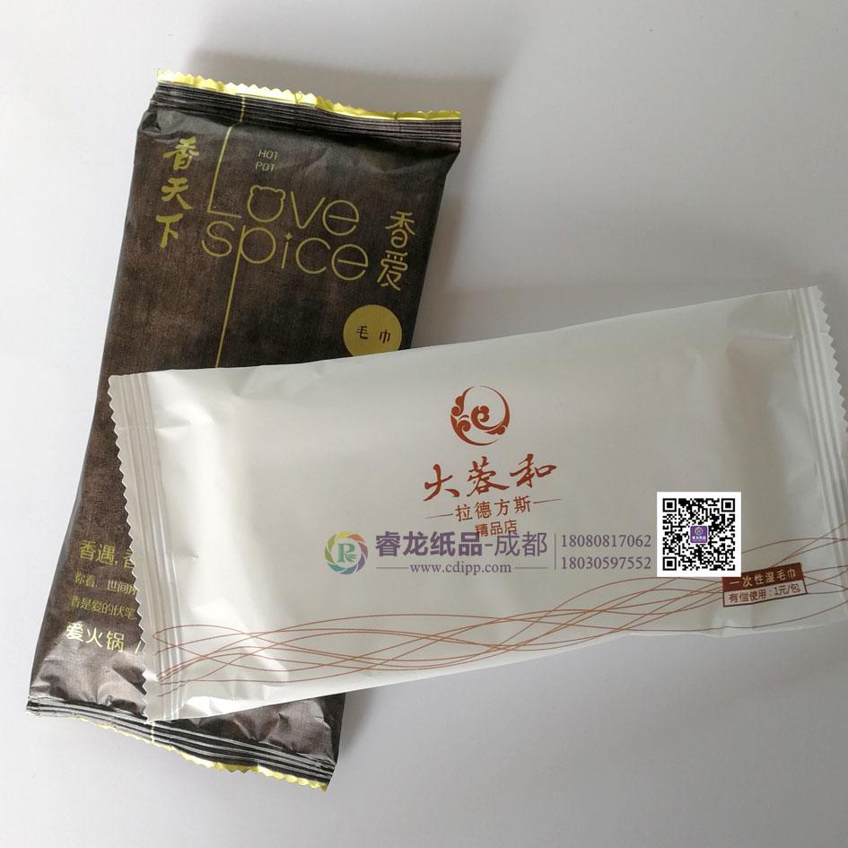 香天下火锅湿巾➹大蓉和餐饮湿毛巾订制◢成都睿龙纸品厂