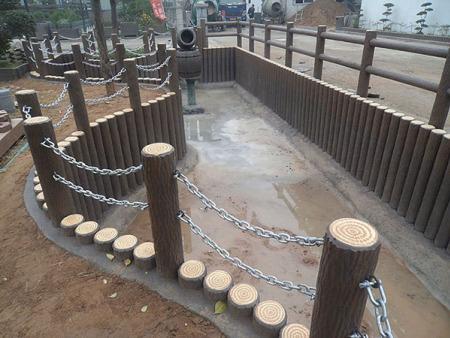 水泥仿树皮护栏生产厂家-潍坊优良的水泥仿树皮护栏哪里有供应