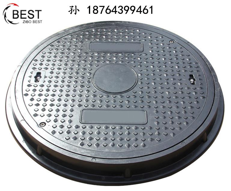 山东厂家批发高荷载树脂井盖_加油站专用D400圆井盖