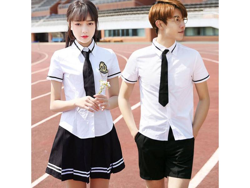 廈門中學生夏季校服批發_柏利斯服飾新款小學生夏季校服