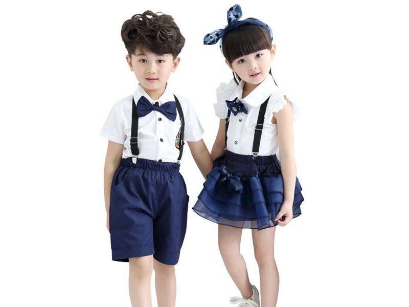 小學生夏季校服廠家_質量好的小學生夏季校服哪里買