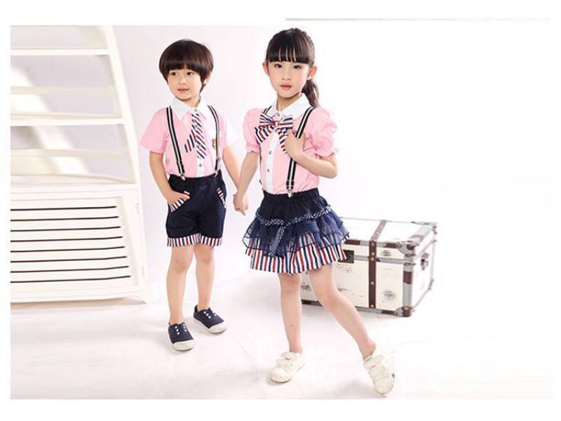 小学生夏季校服供应-泉州新品小学生夏季校服批发出售