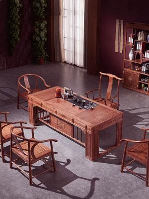 印尼黑酸枝茶桌-推荐厦门实惠的红木茶桌