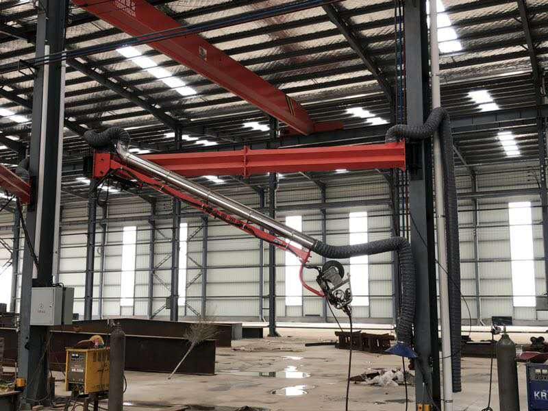安徽新能源焊接设备/焊烟净化吸尘臂批发/二保焊机悬臂架定制