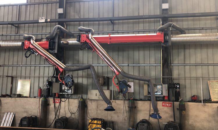 供应二氧化碳焊接吸尘臂厂家-百润机械(在线咨询)-焊接吸尘臂