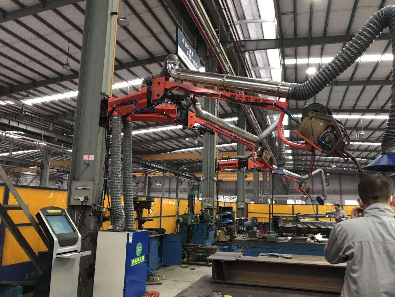 山东高空作业机械厂家 防摆动定位式焊接吸尘臂订做 自动焊接臂