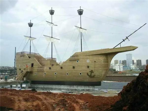 济南靠谱的景观船制作仿古木船景观帆布等产品定制厂家