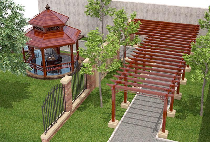 上海凉亭廊架-铝佰汇智能家居供应物超所值的凉亭廊架