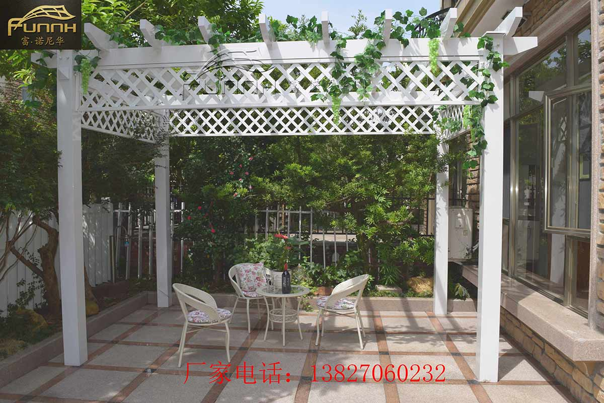 仿木纹铝合金葡萄架 室外别墅庭院设计花园简易铝合金花架