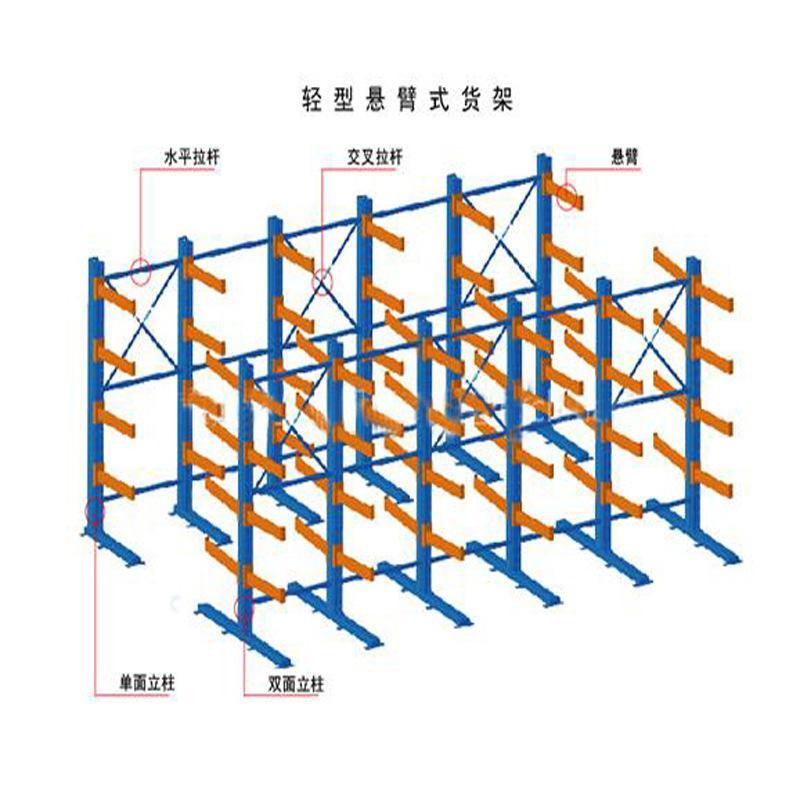 青岛引金公司专业生产悬臂货架仓库货架_莱西悬臂货架厂家直销