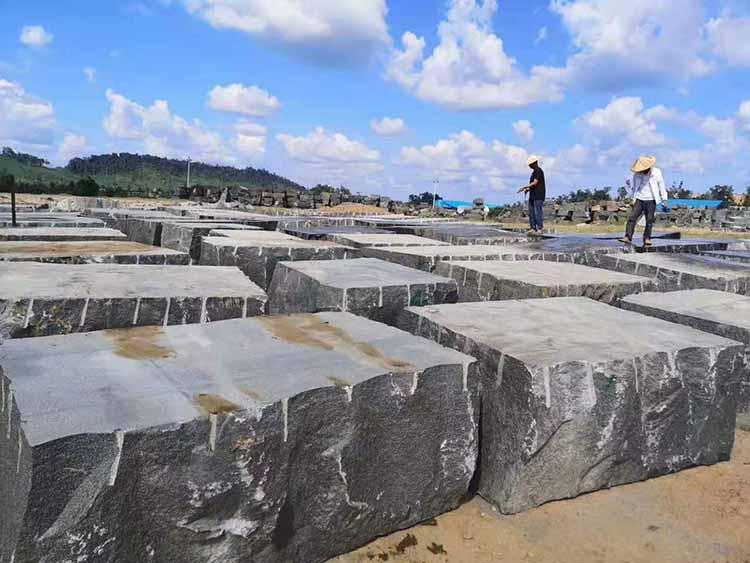 柬埔寨654芝麻黑石材