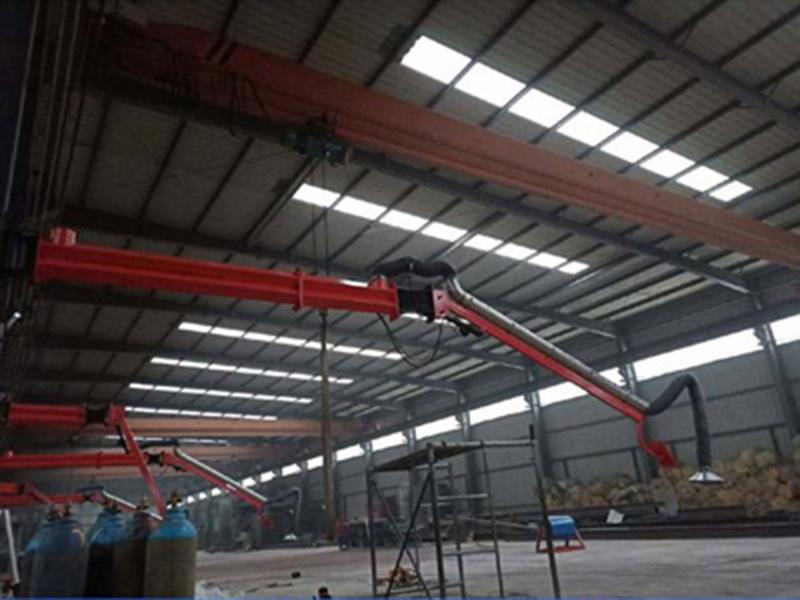 吸尘臂 起重机械焊接吸尘臂 送丝机焊接悬臂临沂百润专业生产