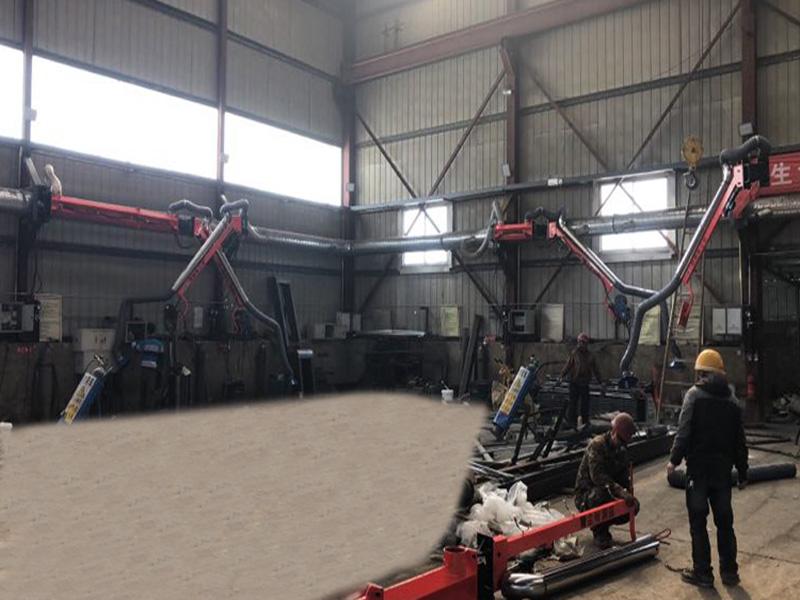安徽新能源焊接设备/焊烟净化吸尘臂供应/二保焊机悬臂架定制