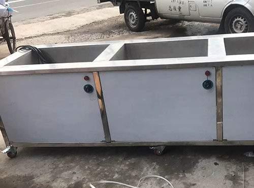 漢威多槽半自動超聲波清洗機成都漢榮機械