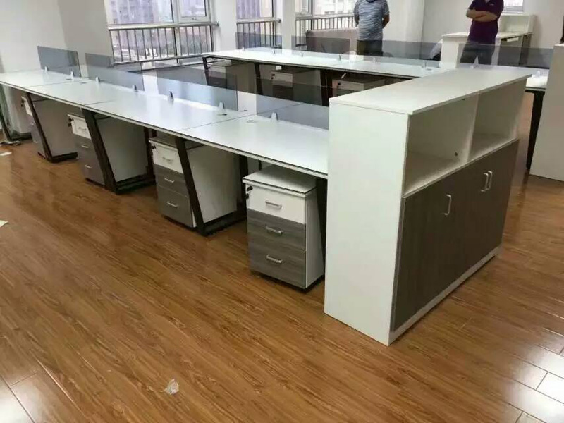 电脑办公桌 合肥价格实惠的钢架组合办公桌由盛百森办公家具明升ms88