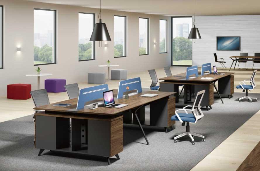 電腦桌-辦公桌上哪買比較好合肥盛百森辦公家具廠家定制生產