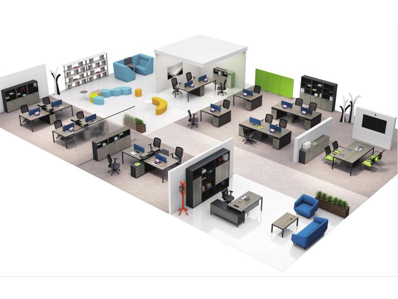 定做办公桌-合肥新款办公桌组合盛百森办公家具厂家定制