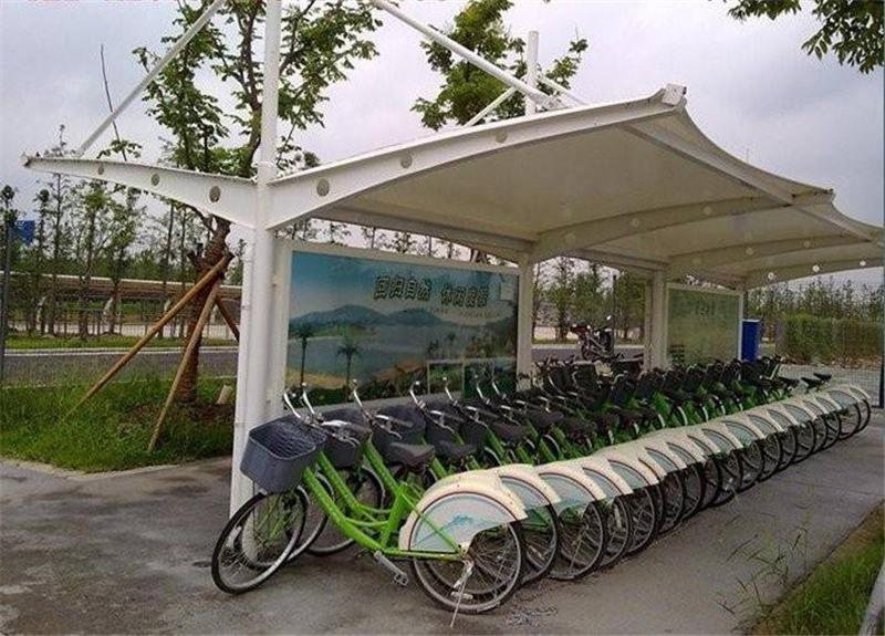 自行车车棚制作,自行车车棚施工,山西自行车车棚