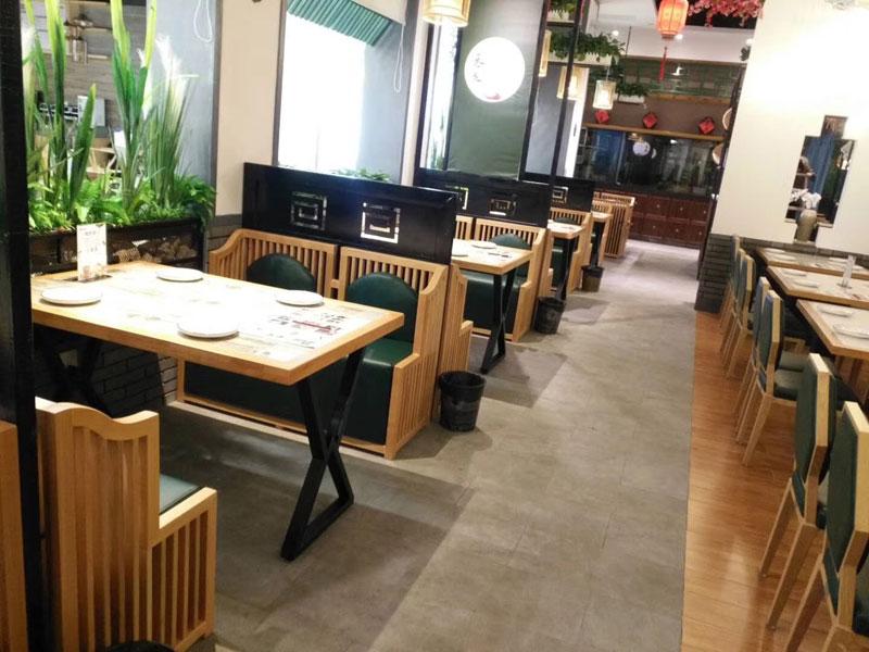 美食城餐桌椅