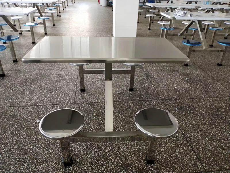 滨州规范不锈钢食堂折叠餐桌,认准广杰厨业|食堂不锈钢折叠餐茶桌椅组合批发
