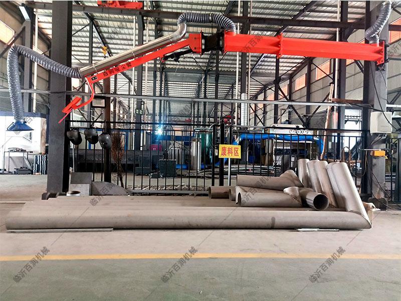 臨沂百潤車間風管凈化吸塵臂3米升降可調環保送絲機懸臂旋轉支架