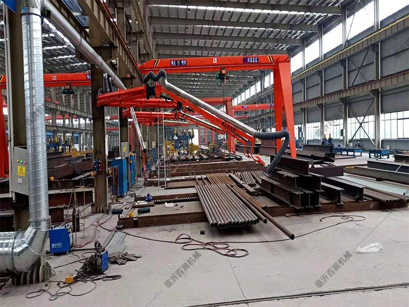 山東挖掘機械設備焊接 吸塵焊機懸臂架定位自鎖式焊接吸塵臂代理