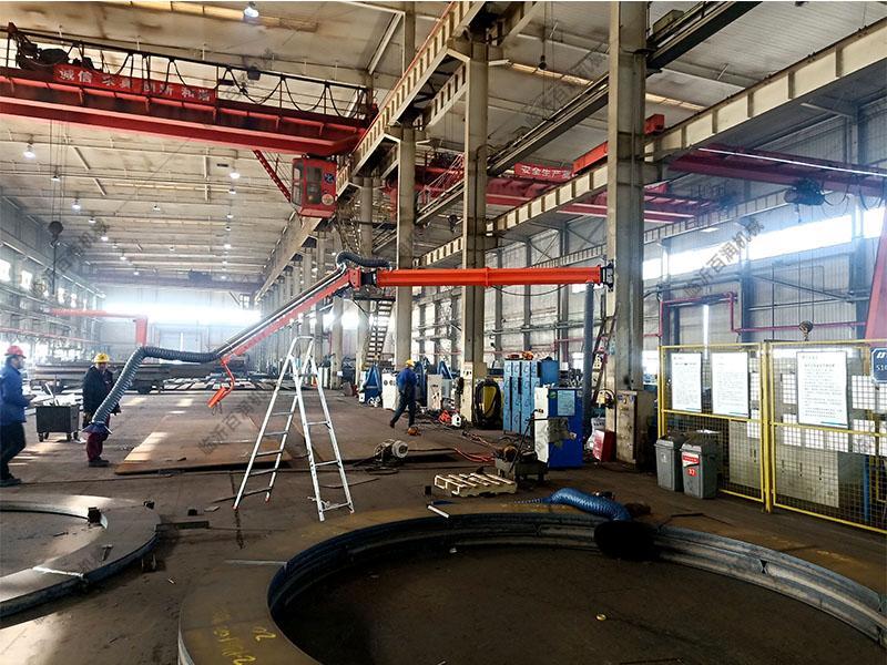 福建地區車間吸塵除塵環保焊接機械助力二保焊機送絲機懸臂支架