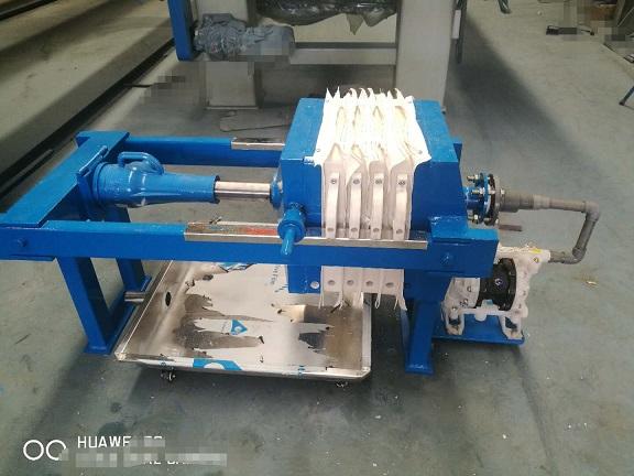 小型压滤机1平方小型压滤机隔膜泵一体型