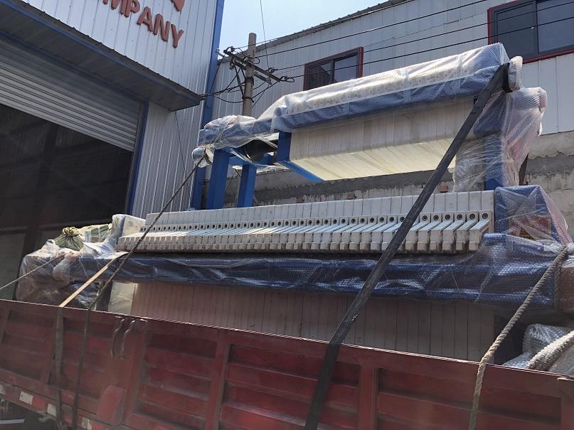 现货供应20平方压滤机玻璃深加工废水压滤机使用效果