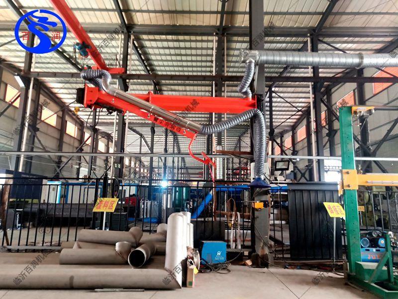 各種工藝產品焊接吸塵臂機械零部件輔助二保焊接加工旋轉升降懸臂