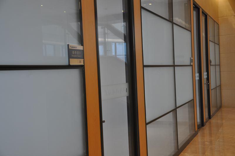 木饰面板玻璃隔断